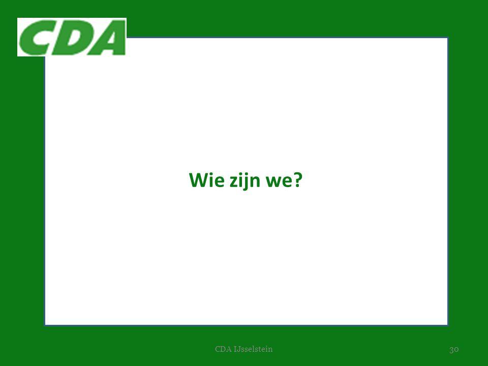 Wie zijn we CDA IJsselstein