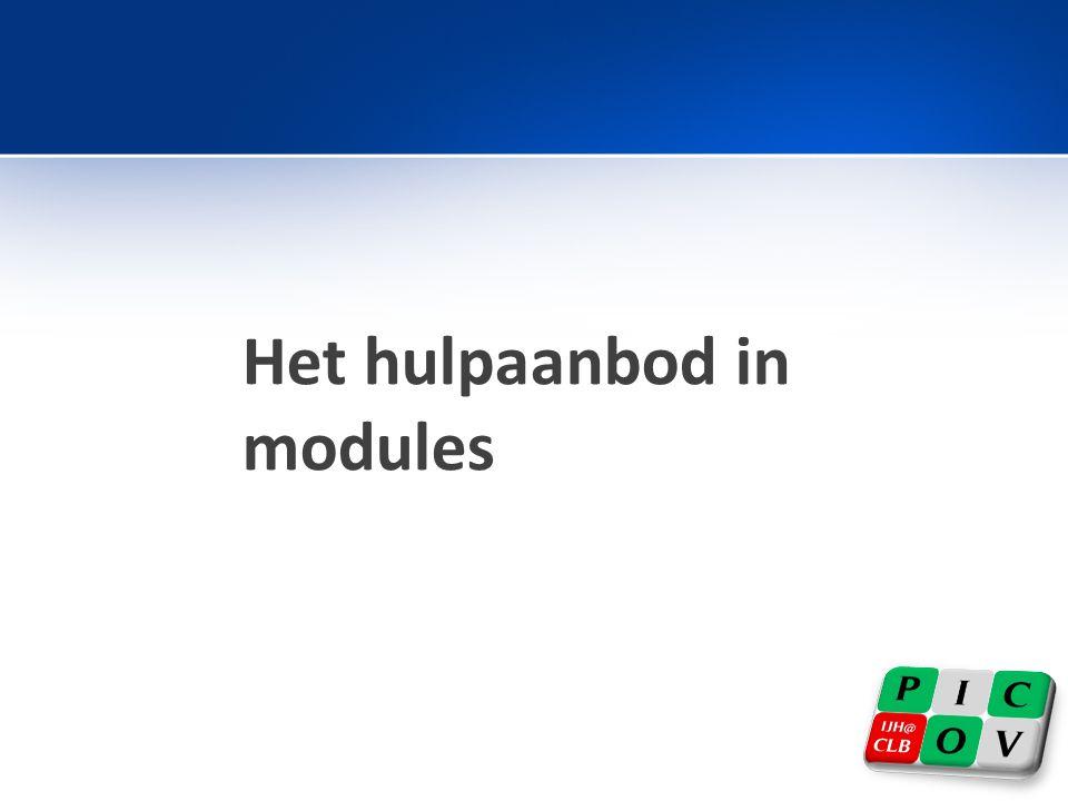 Het hulpaanbod in modules