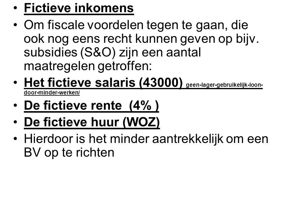 Fictieve inkomens