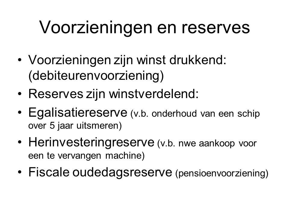 Voorzieningen en reserves