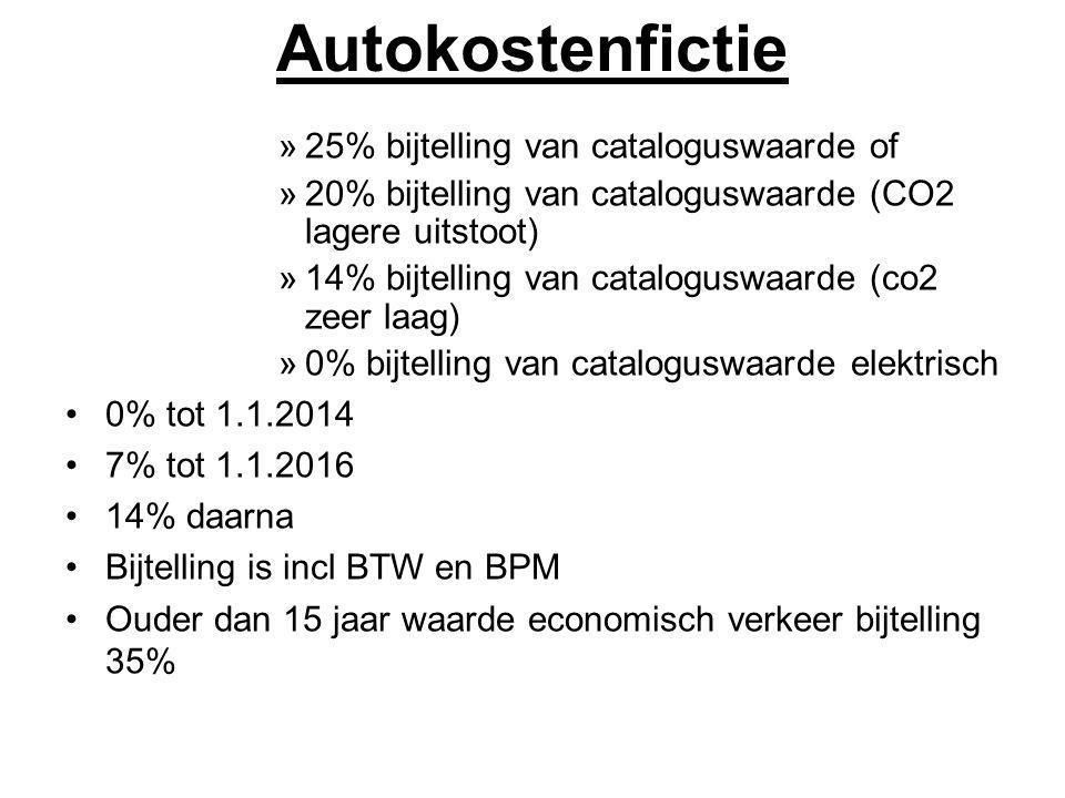 Autokostenfictie 25% bijtelling van cataloguswaarde of