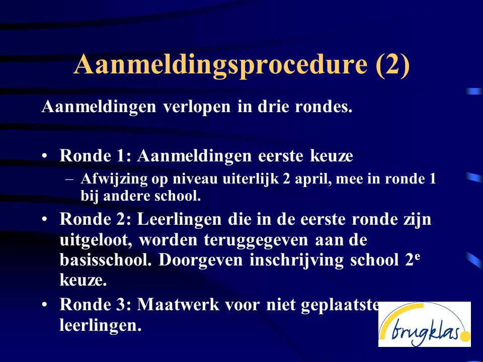 Aanmeldingsprocedure (2)