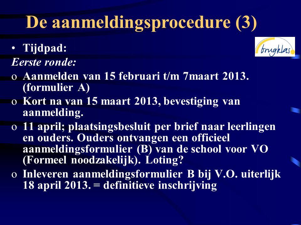 De aanmeldingsprocedure (3)