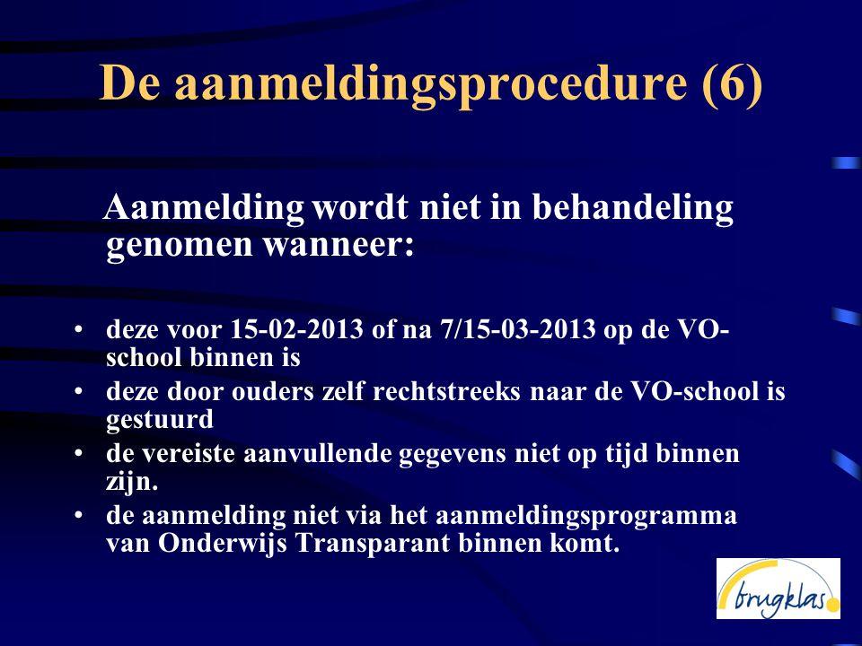 De aanmeldingsprocedure (6)