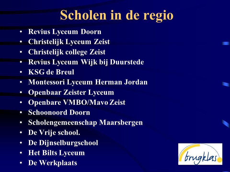 Scholen in de regio Revius Lyceum Doorn Christelijk Lyceum Zeist