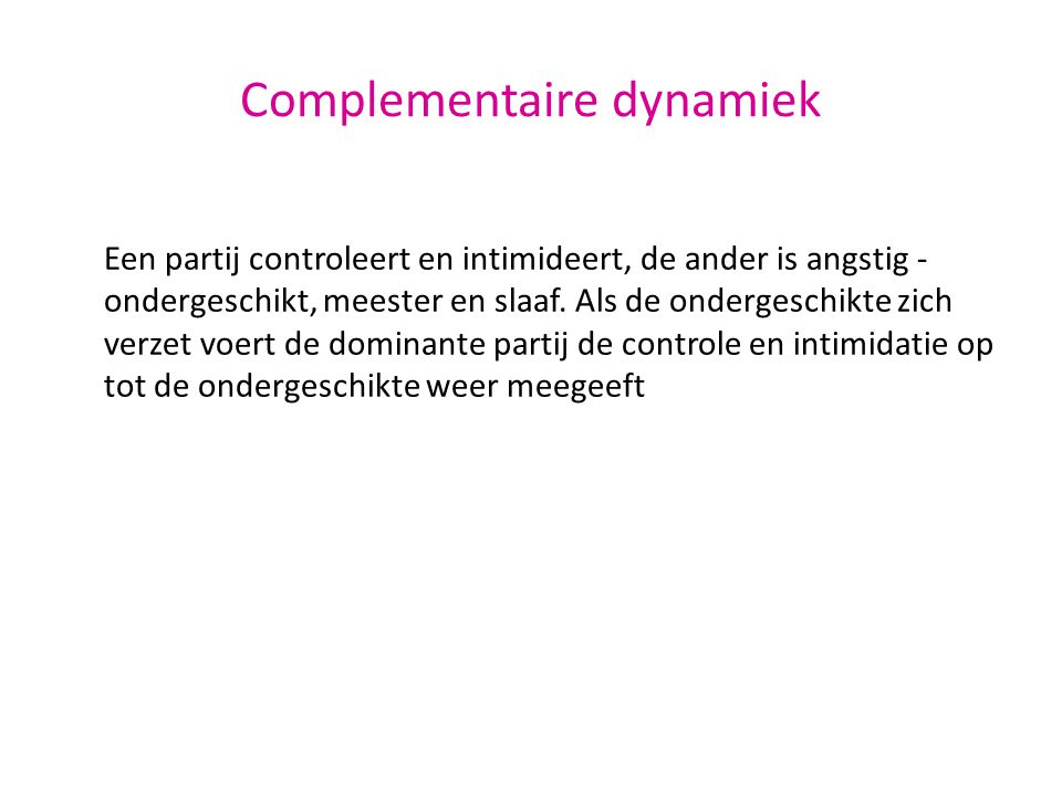 Complementaire dynamiek