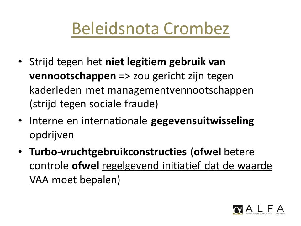Beleidsnota Crombez