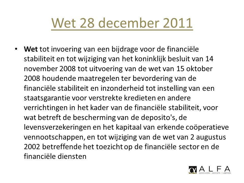 Wet 28 december 2011