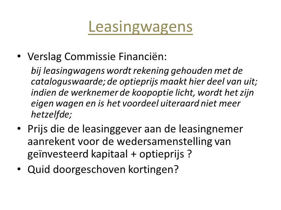 Leasingwagens Verslag Commissie Financiën:
