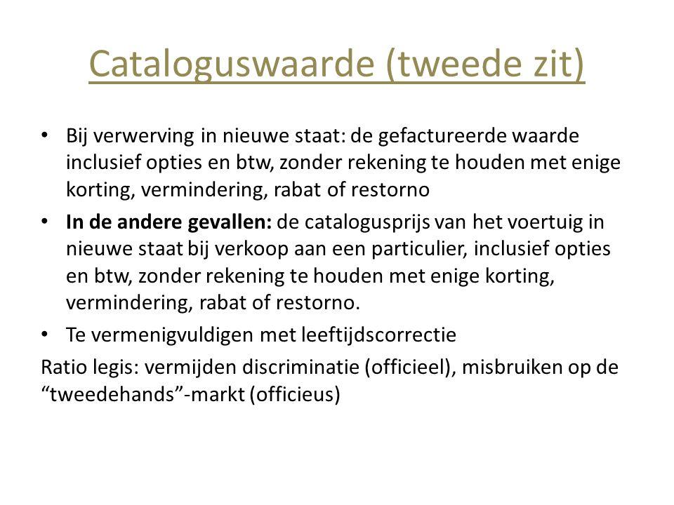 Cataloguswaarde (tweede zit)
