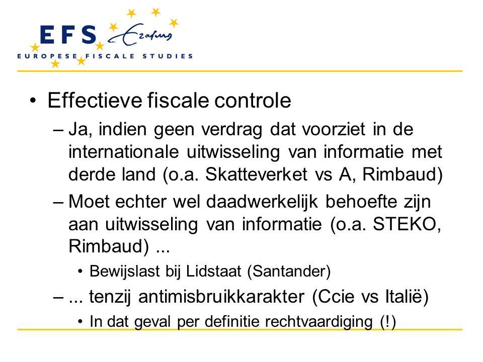 Effectieve fiscale controle