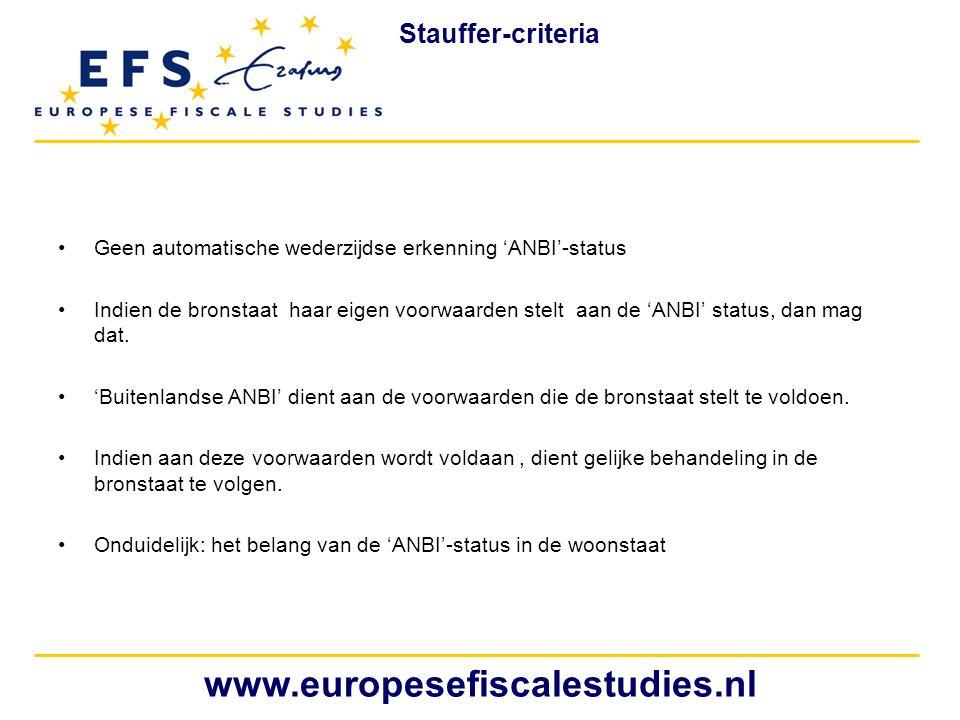 www.europesefiscalestudies.nl Stauffer-criteria
