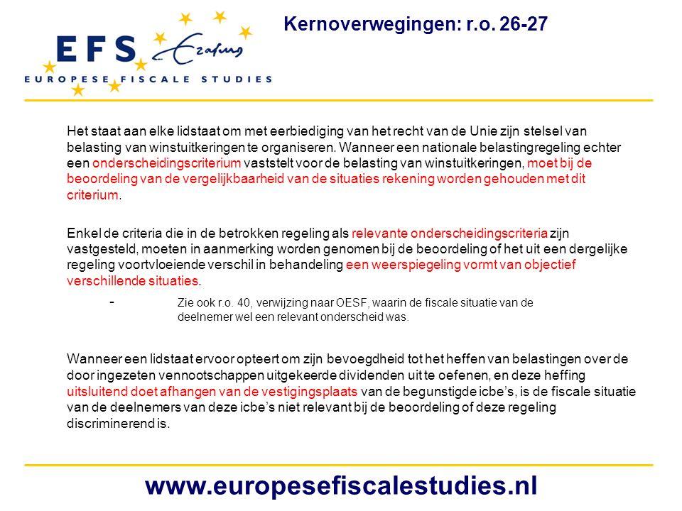 www.europesefiscalestudies.nl Kernoverwegingen: r.o. 26-27