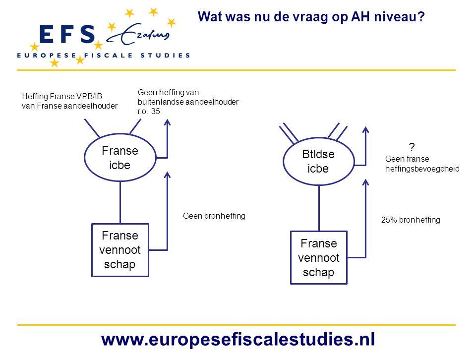 www.europesefiscalestudies.nl Wat was nu de vraag op AH niveau Franse