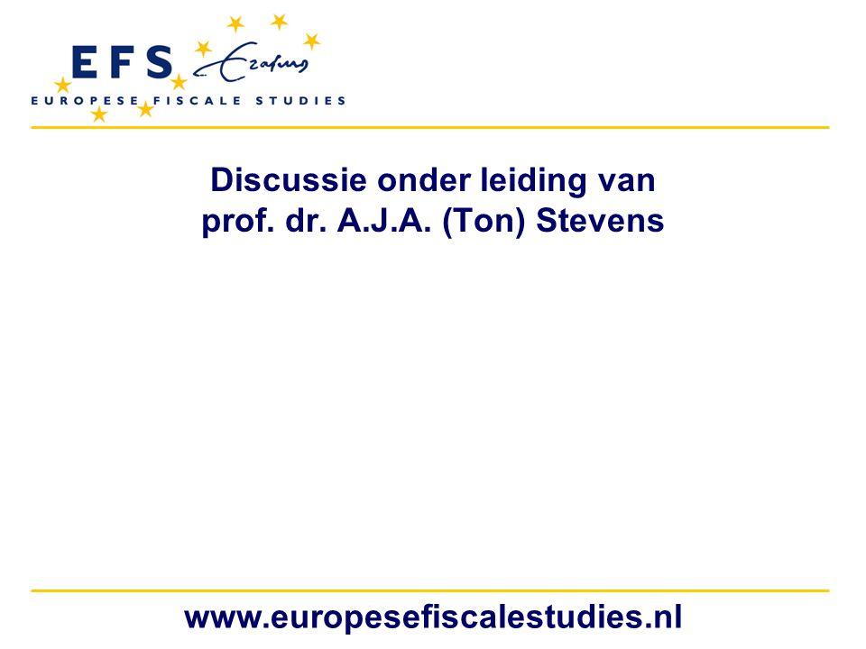 Discussie onder leiding van prof. dr. A.J.A. (Ton) Stevens