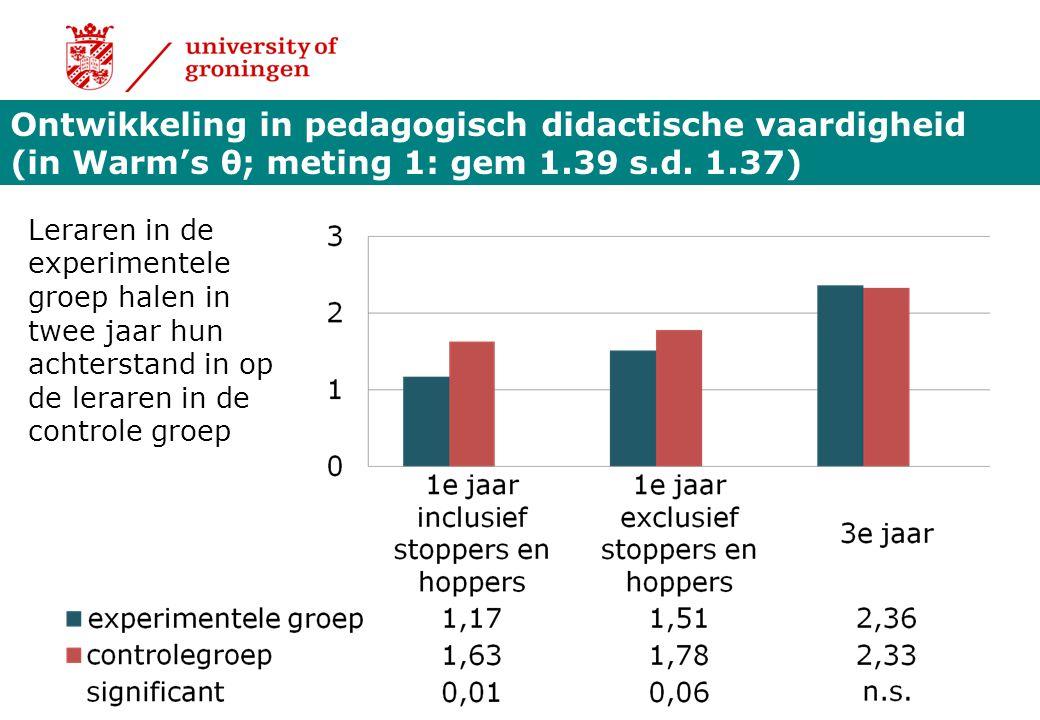 Ontwikkeling in pedagogisch didactische vaardigheid