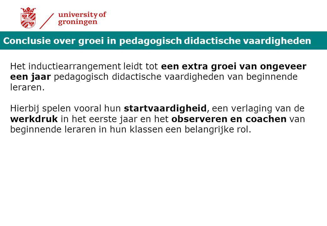 Conclusie over groei in pedagogisch didactische vaardigheden