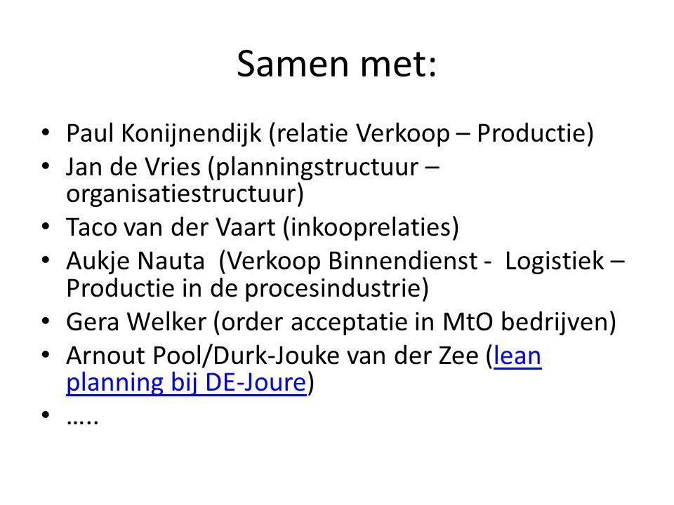 Samen met: Paul Konijnendijk (relatie Verkoop – Productie)