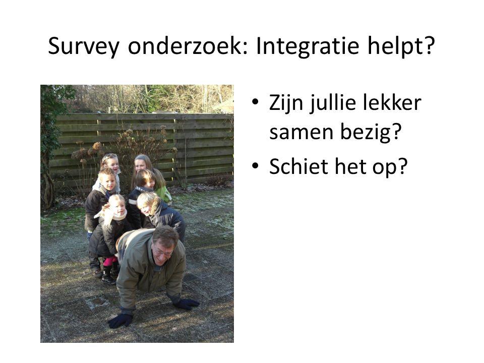 Survey onderzoek: Integratie helpt