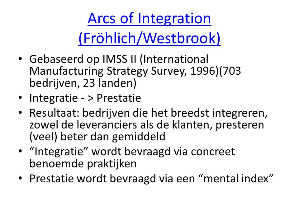 Arcs of Integration (Fröhlich/Westbrook)