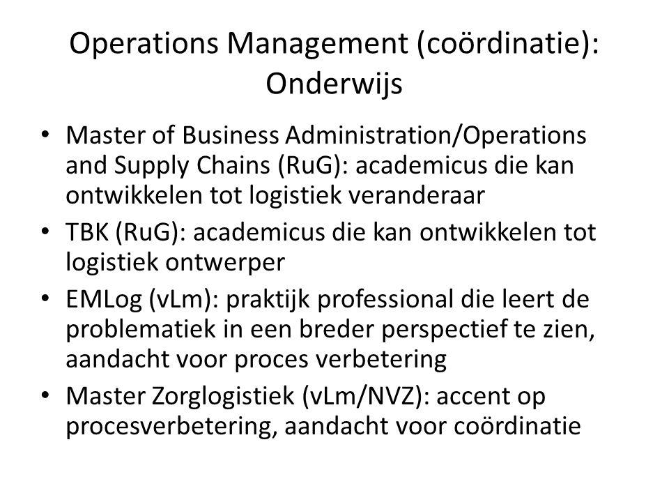 Operations Management (coördinatie): Onderwijs