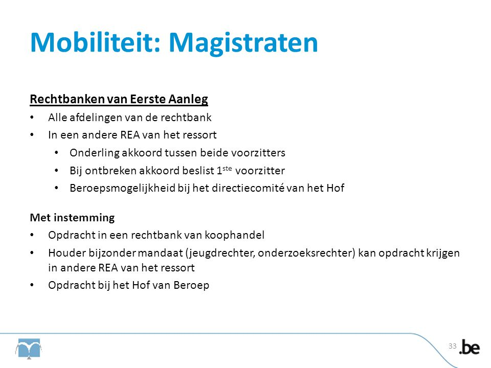 Mobiliteit: Magistraten