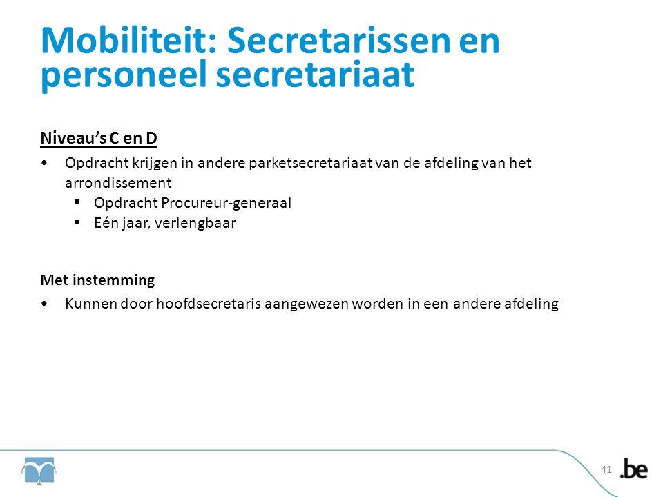 Mobiliteit: Secretarissen en personeel secretariaat