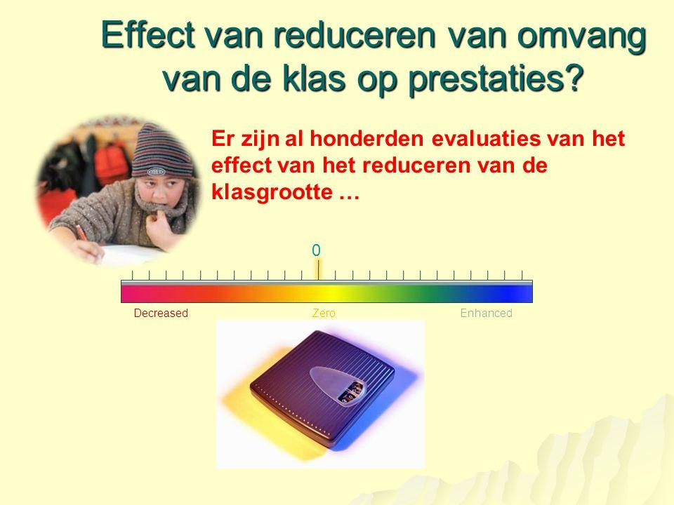 Effect van reduceren van omvang van de klas op prestaties