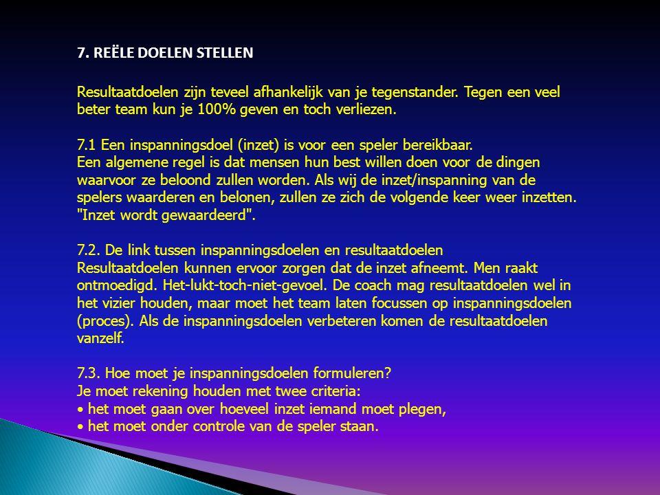7. REËLE DOELEN STELLEN