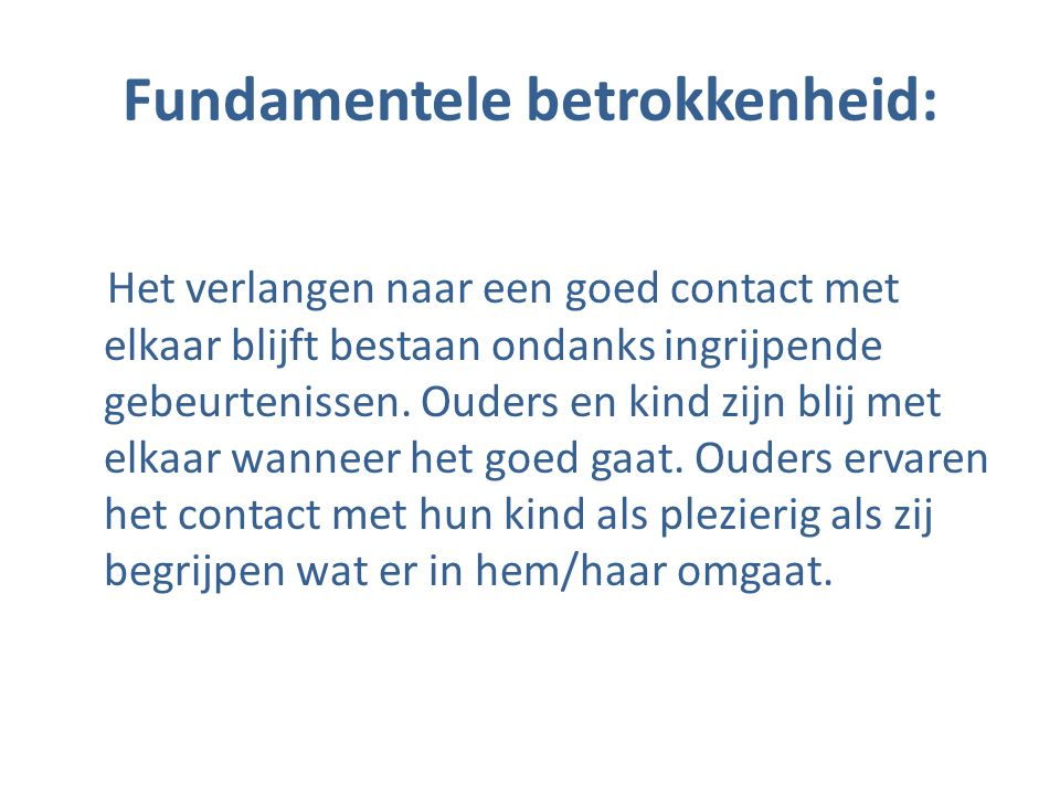 Fundamentele betrokkenheid: