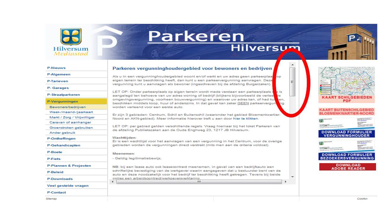 Voorbeeld 2 aanvraag parkeervergunning