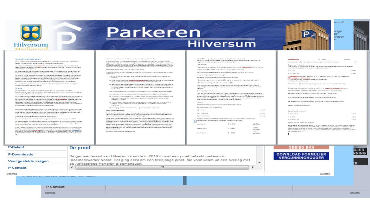 Voorbeeld 2 aanvraag parkeervergunning Hilversum