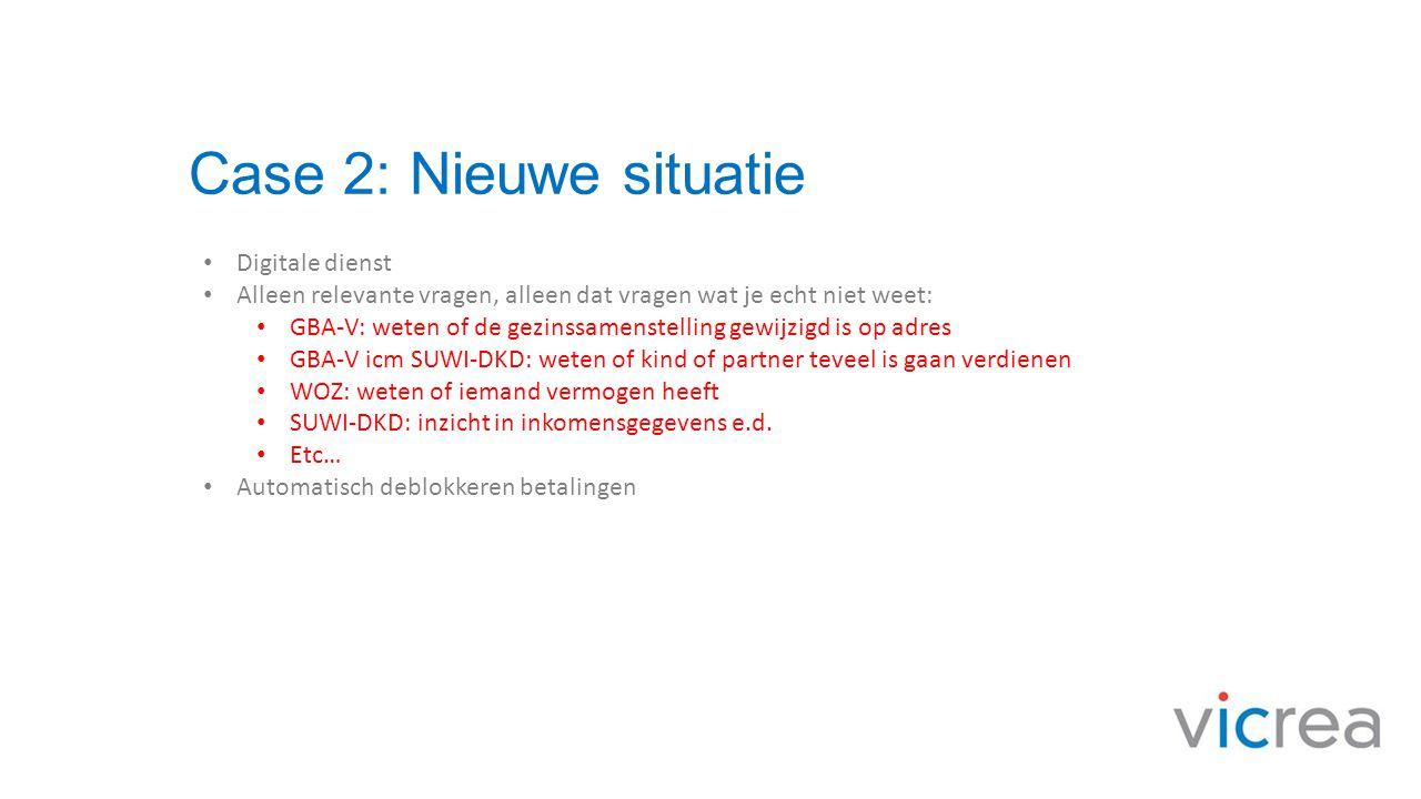 Case 2: Nieuwe situatie Digitale dienst