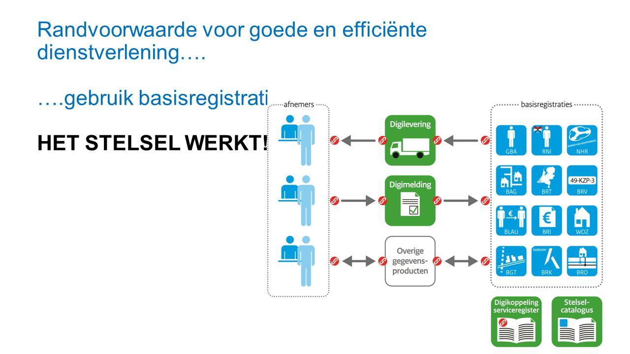 Randvoorwaarde voor goede en efficiënte dienstverlening….