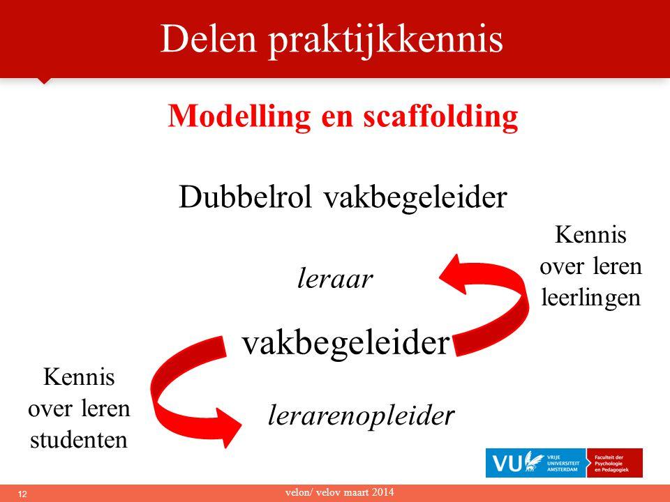 Modelling en scaffolding