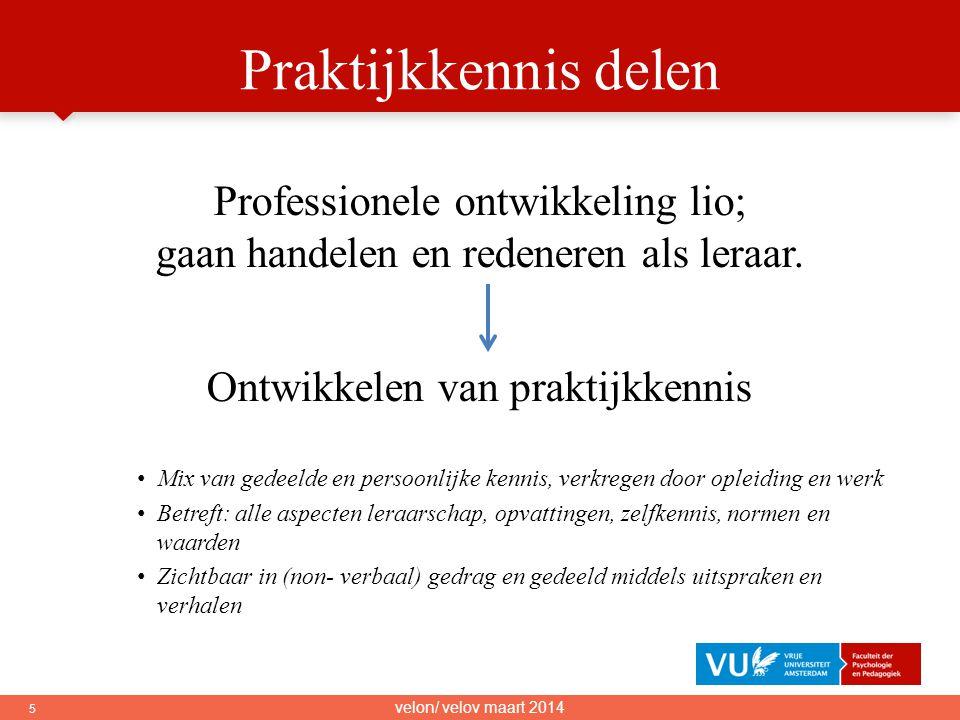Praktijkkennis delen Professionele ontwikkeling lio;