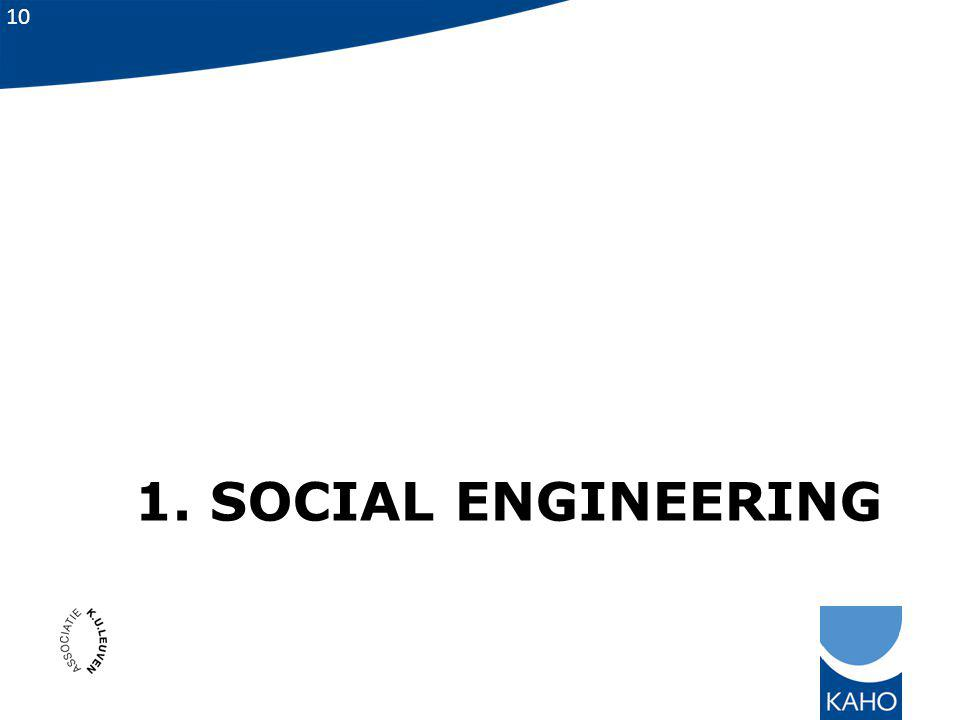 1. Social engineering