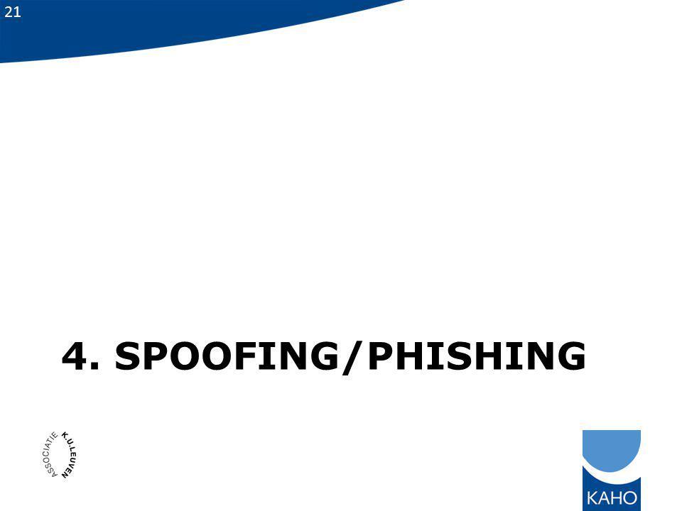 4. spoofing/phishing