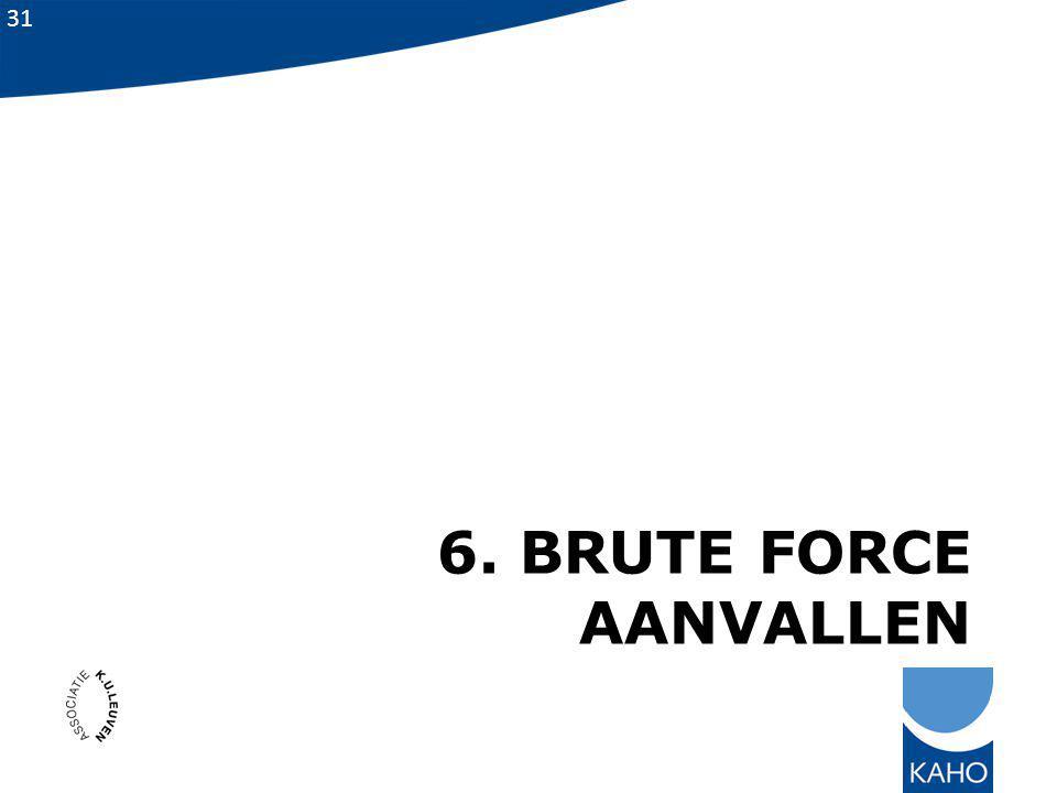6. Brute force aanvallen