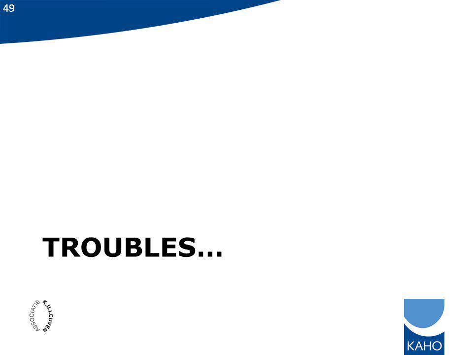 Troubles…