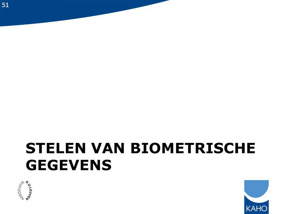 Stelen van biometrische gegevens