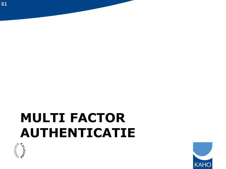 Multi factor authenticatie