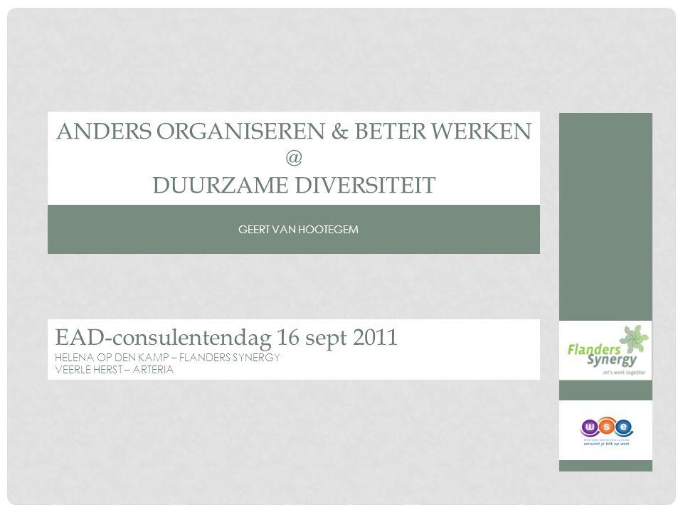 Anders Organiseren & Beter Werken @ Duurzame Diversiteit