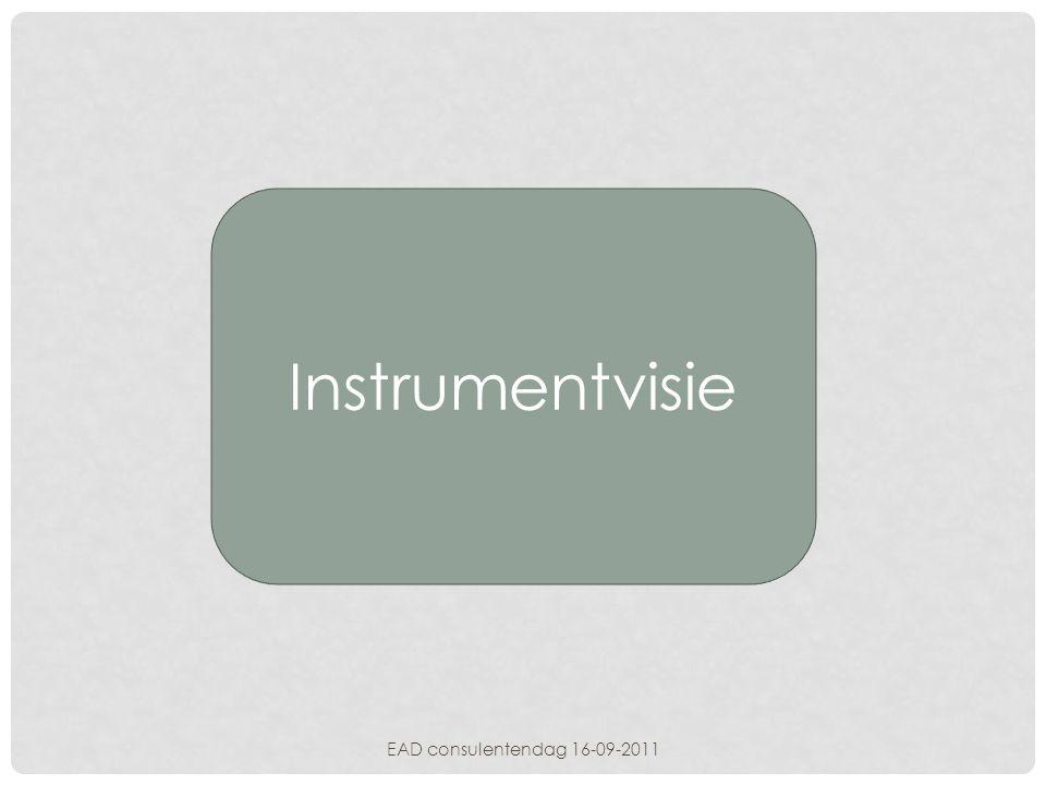 Instrumentvisie EAD consulentendag 16-09-2011