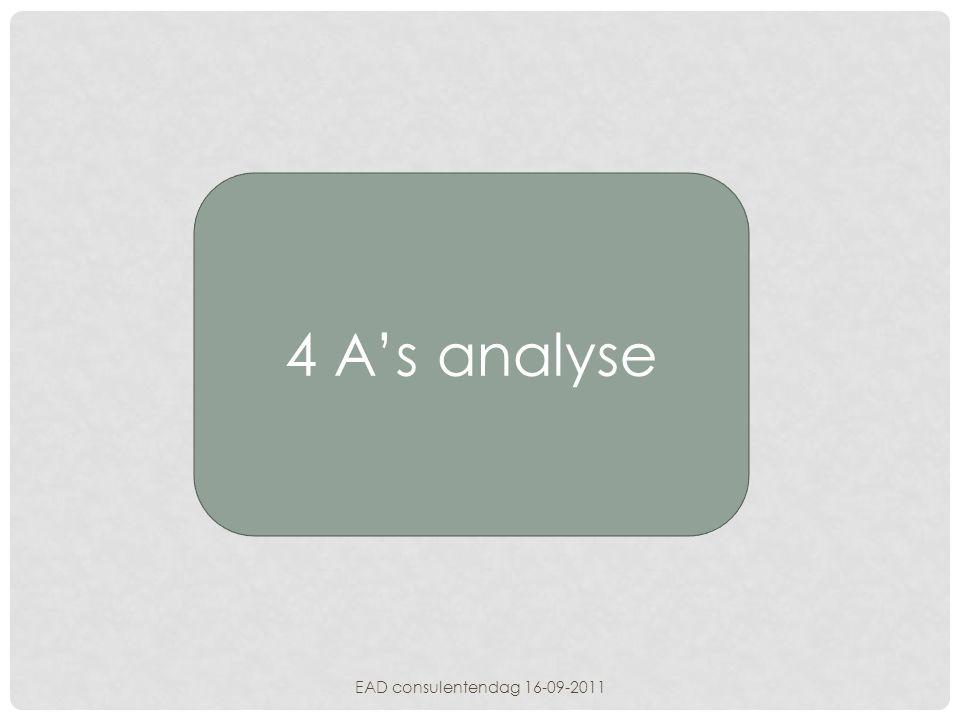 4 A's analyse EAD consulentendag 16-09-2011