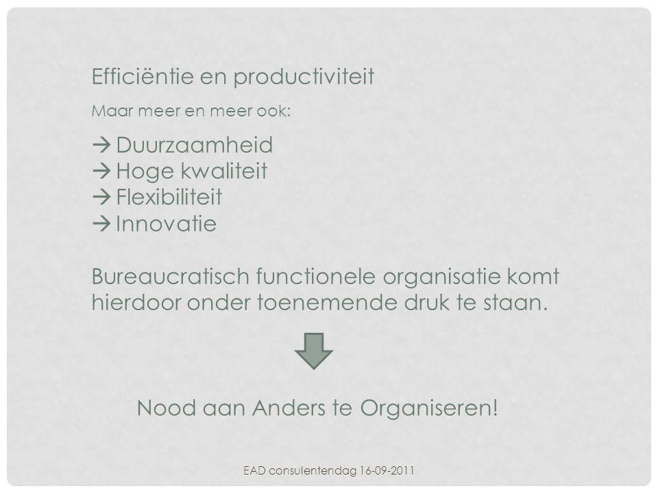 Efficiëntie en productiviteit
