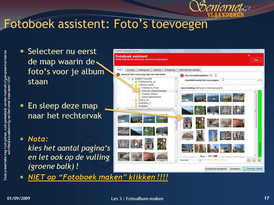 Fotoboek assistent: Foto's toevoegen