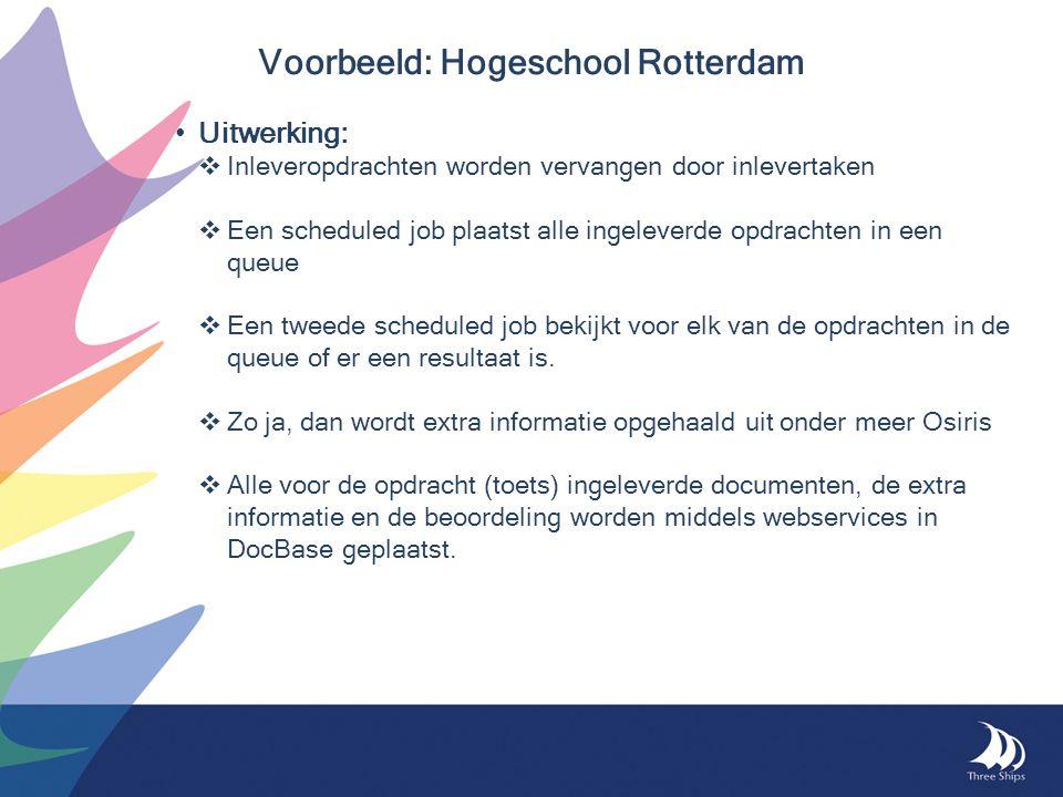 Voorbeeld: Hogeschool Rotterdam