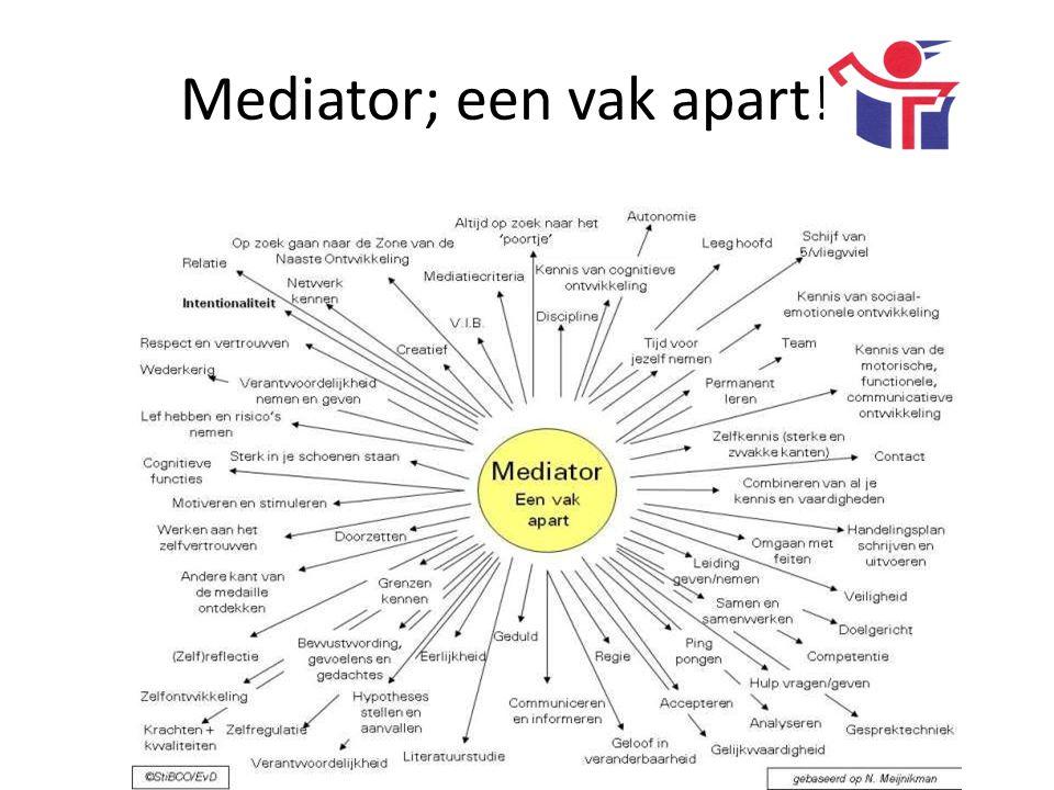 Mediator; een vak apart!!!