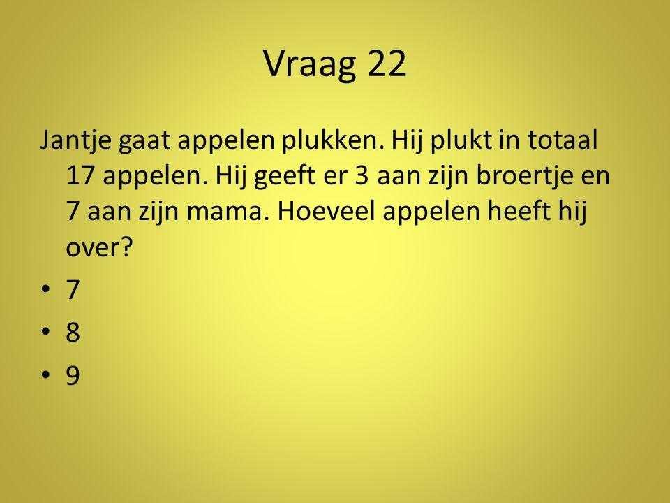 Vraag 22